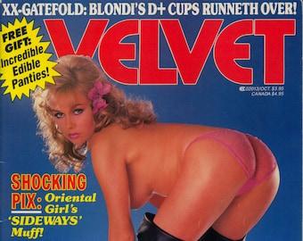 Velvet Magazine October 1986 Excellent Plus condition Mature Blondi