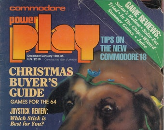 Commodore Power Play Magazine Dec Jan 1984 1985 Good Reader Copy