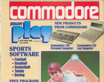 Commodore Power Play Magazine April May 1985 Good Reader Copy