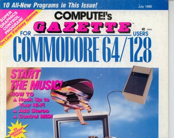 Compute!'s Gazette Magazine July 1989 Very Good
