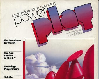 Commodore Power Play Magazine June July 1984 Good Reader Copy