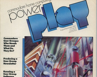 Commodore Power Play Magazine Aug Sept 1984 Good Reader Copy