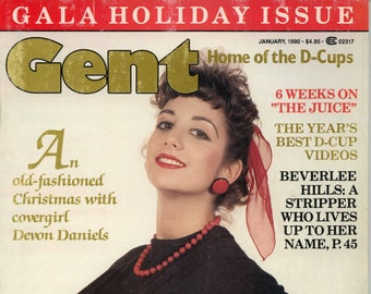 Gent Magazine January 1990 Good Condition Mature