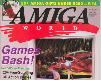 Amiga World Magazine Decenber 1994 Very Good Condition 16 Bit Computer