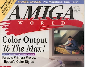 Amiga World Magazine April 1995 Very Good Condition 16 Bit Computer