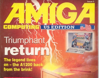 Amiga Computing US Edition Magazine #5 Very Good Condition 16 Bit Computer