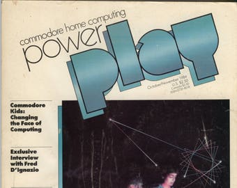 Commodore Power Play Magazine Oct Nov 1984 Good Reader Copy