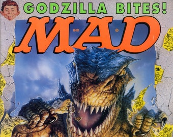 Mad Magazine NO 370 June 1998 VG+ Godzilla
