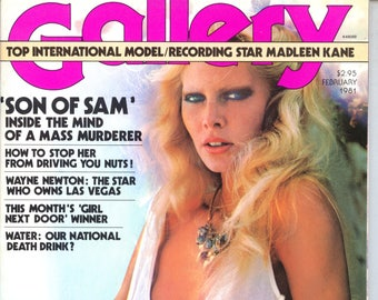Gallery Magazine February 1981 loose centerfold Ecellent Condition Mature