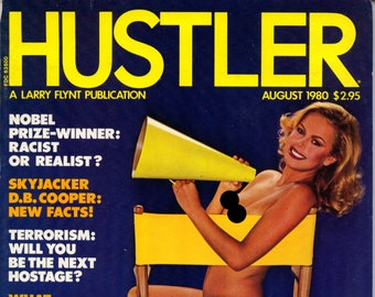 Hustler Magazine August 1980 Excellent condition  Two Cut pages in the front Mature
