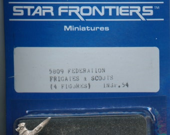 Star Frontiers Federation Frigates and Scouts Metal Miniatures MINT