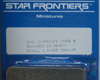 Star Frontiers Starship Bases and Supports for Metal Miniatures MINT