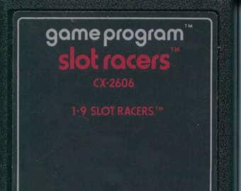 Atari 2600 Slot Racers Game Cartridge Sports Racing