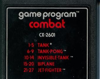 Atari 2600 Combat Game Cartridge Tank battles