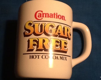 Carnation Sugar Free Hot Cocoa Mix Advertising coffee Tea Mug Cup