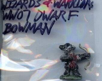 Grenadier WW07 Wizards and Warriors Dwarf Bowman Painted Metal Miniature