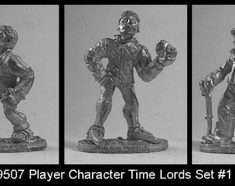 Doctor Who FASA  Time Lords Set #1 25mm Metal Miniatures MINT