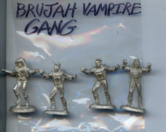 Ral Partha Vampire the Masquerade Brujah Vampire Gang Set Lead Miniature