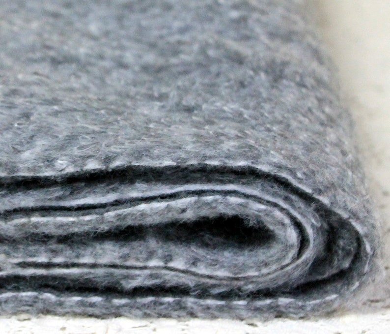Craft Projects Low Loop Pile Fabric Length Gray Faux Fur Fabric 2 Yards of Soft Plush Grey Fur Length of Yardage