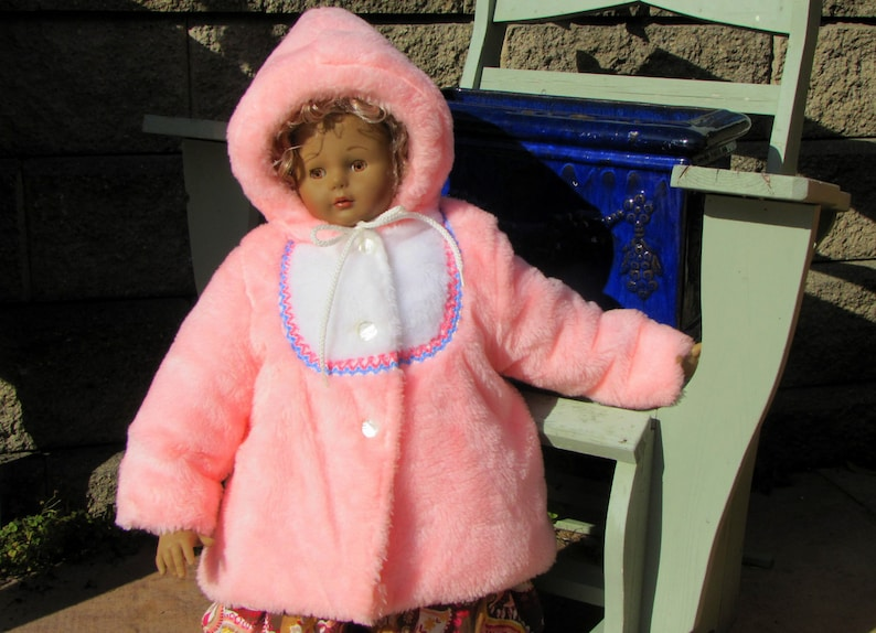197fddf7059b Vintage Girls Pink Plush Coat Plush Faux Fur Winter Jacket