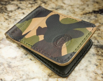 Camo Spitfire Real Leather Bifold Card Holder and Wallet Gift 57