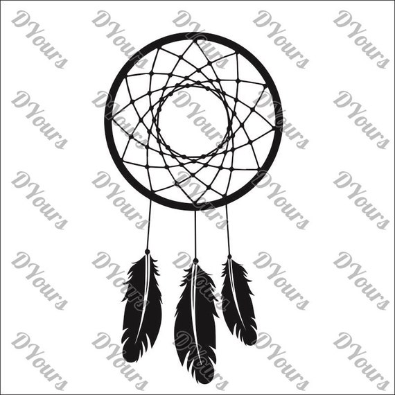 dreamcatcher template svg cdr ai pdf files instand etsy