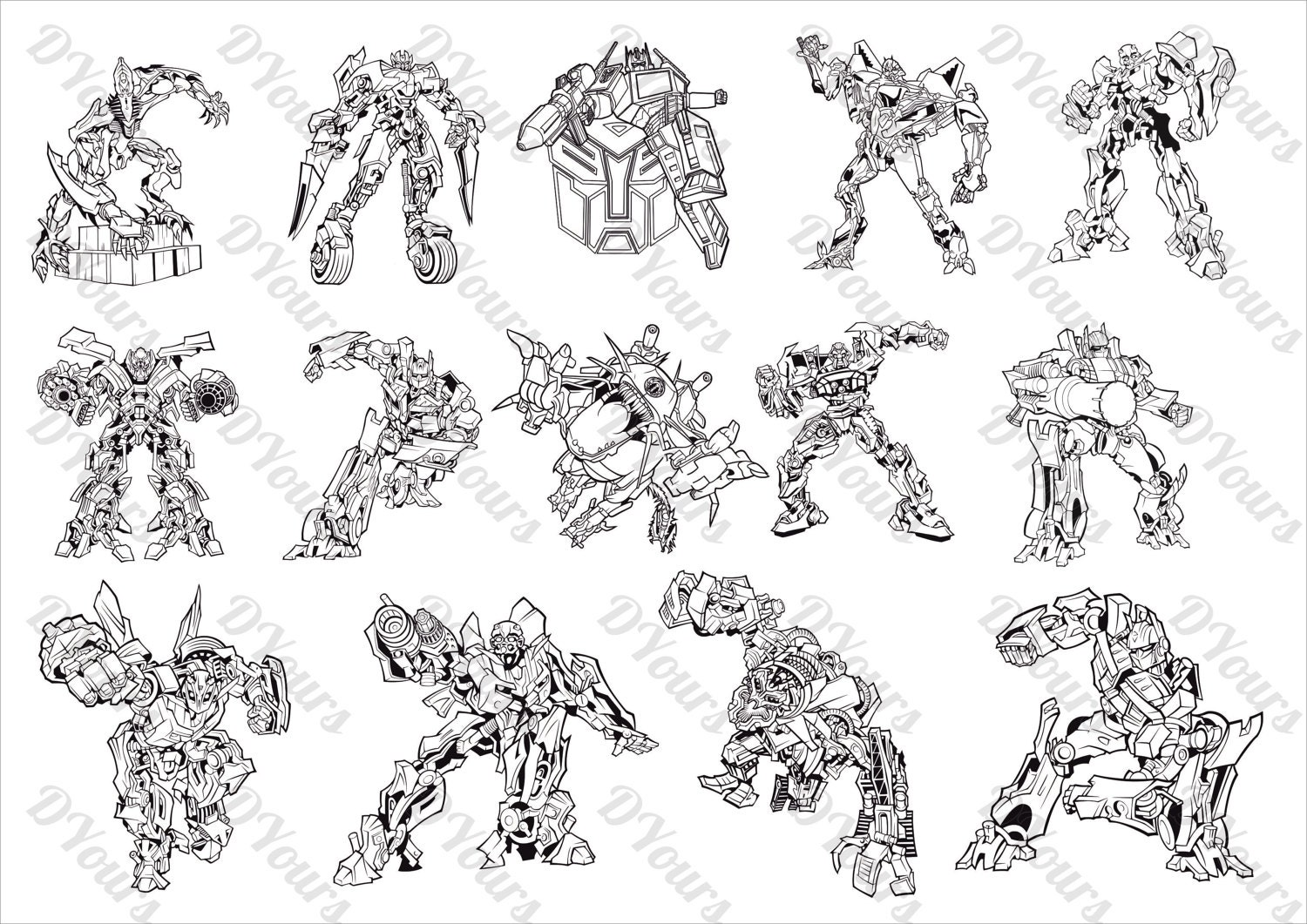 Transformers 14 Vector Models svg cdr ai pdf files Instant | Etsy