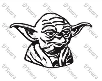 Yoda Star Wars Vector Model - svg cdr ai pdf eps files - Instant Download Files for Laser Cutting Printing CNC Cut Engraving Clipart
