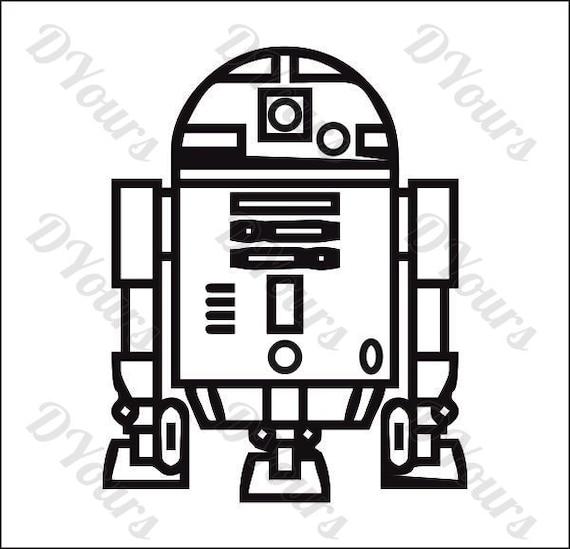 R2D2 Star Wars modelo svg cdr ai eps pdfs instantánea