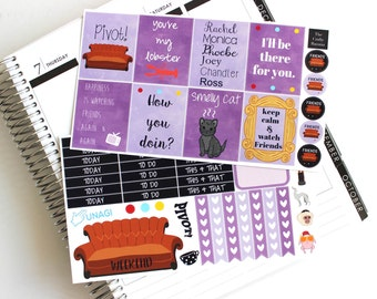 Friends TV Show Planner Stickers - Inspired by Friends - TV Show Planner Stickers - 2 Sheets