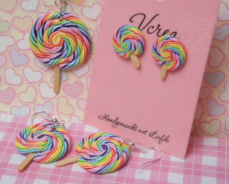 Rainbow Lollipop Jewelry Set