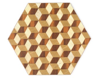 12 dark brown Placemats coasters hexagon Melamine Heat Resistant 160 tablemat brown ivory beige place mat Wedding Gift couple Mothers day