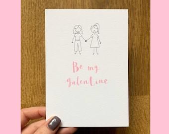 Be My Galentine Card Valentines Day Galentines Day