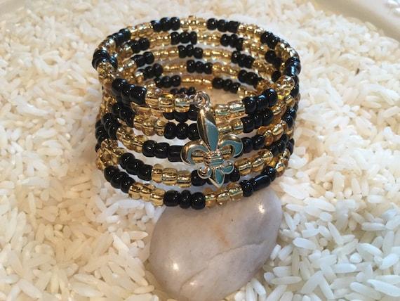 New Orleans Saints Black And Gold Who Dat Fleur De Lis Memory Etsy