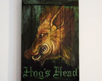 Harry Potter Hogs Head Pub Sign