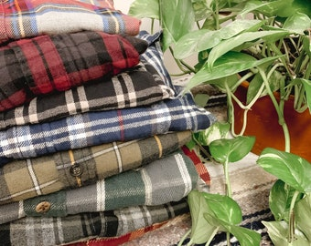 Unisex Fall and Winter Flannels Vintage Clothing Vintage Flannel You Pick Your Size