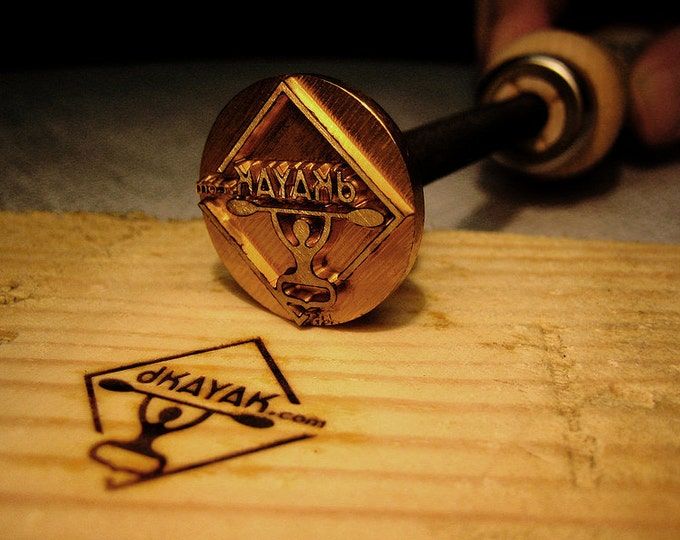 1.2 inches Branding iron woodburning stamp wood leather
