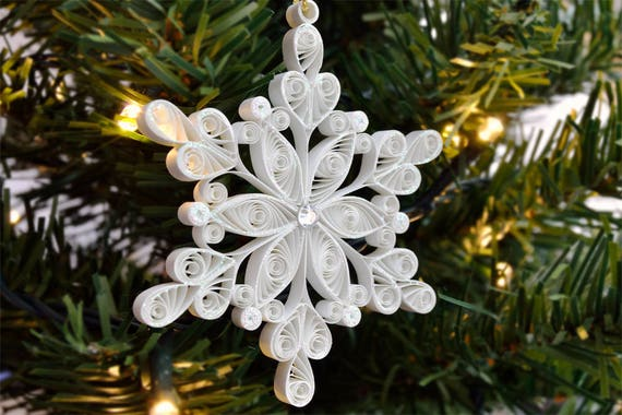 Christmas Tree Decoration Quilled Snowflake Christmas Quilling Christmas Gift Paper Christmas Decoration Holiday Ornament