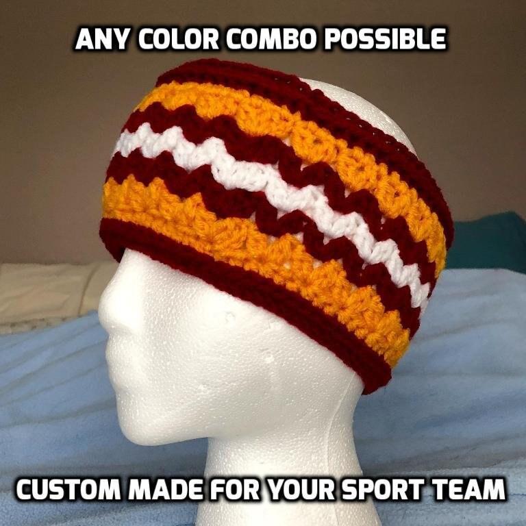 Custom Made Sports Team Headband Athletic Spirit Ear Warmer  a2f90baae