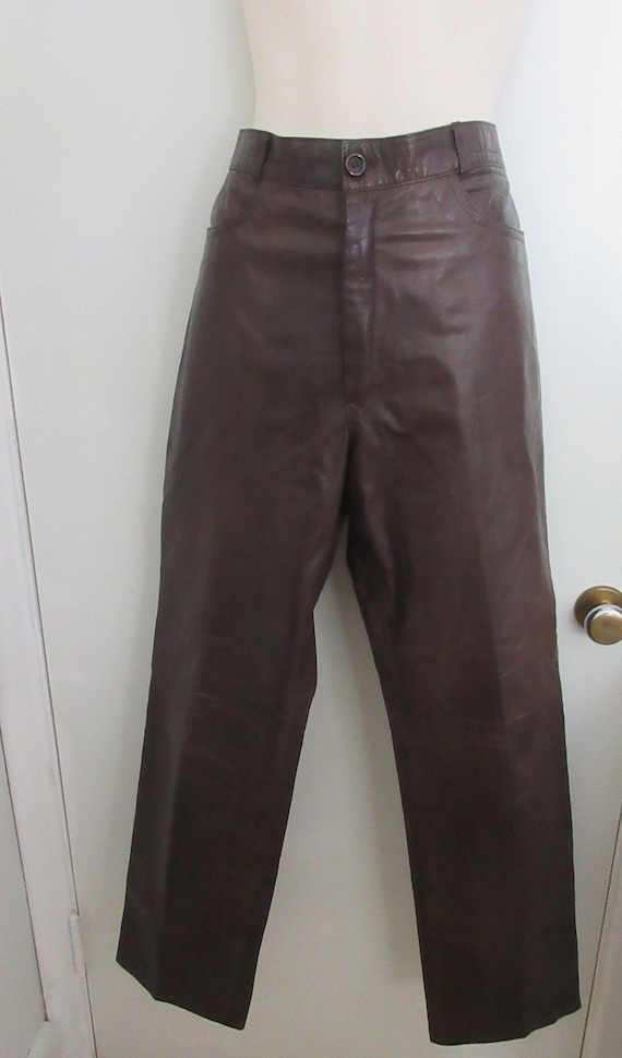 Leather Pants, Brown Leather Pants, Sexy Leather,
