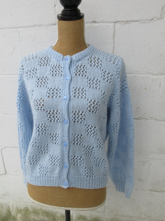 Handmade Sweater, Handmade Jumper, Baby Blue Sweat