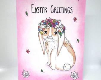 Pink Easter Bunny Card