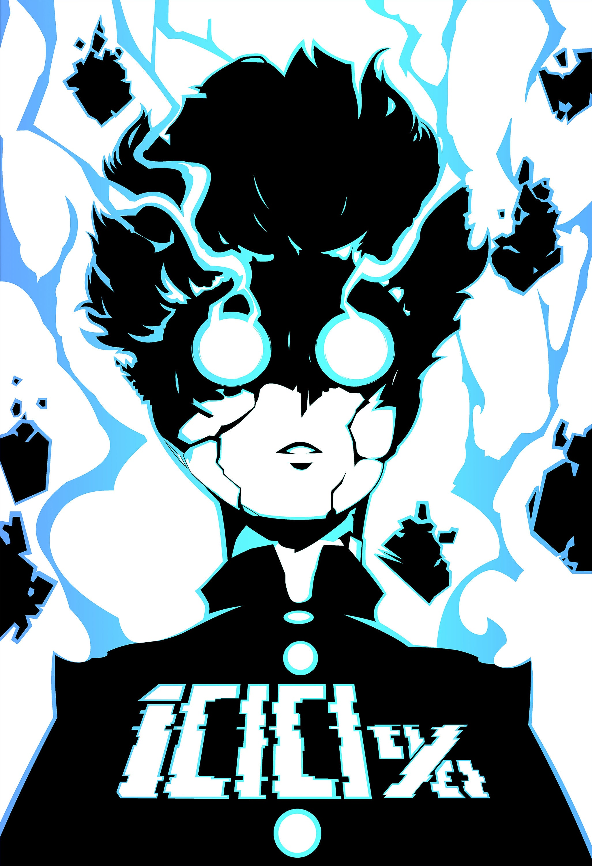 Mob Psycho 100 calligraphy art print poster AUTHENTIC by Jidou