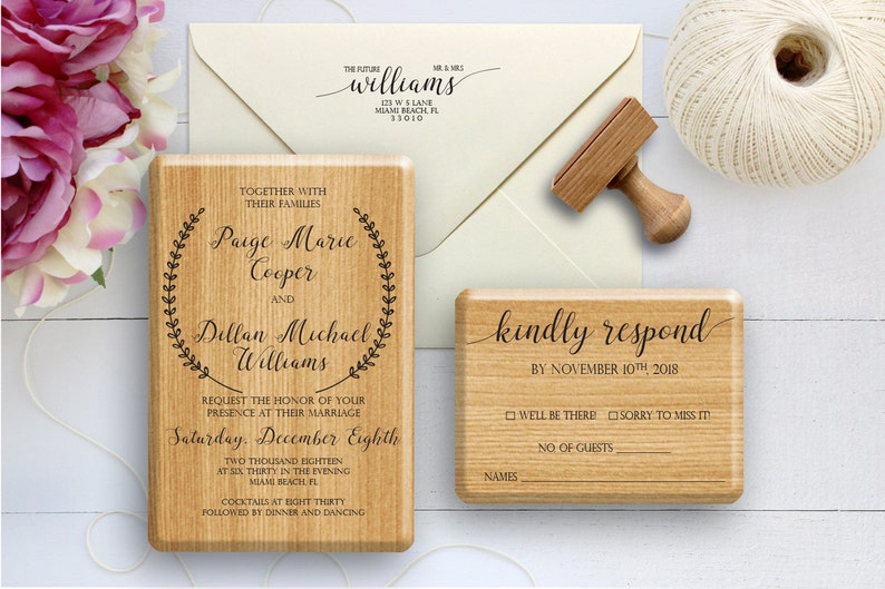 Wedding Stamp Invitation RSVP