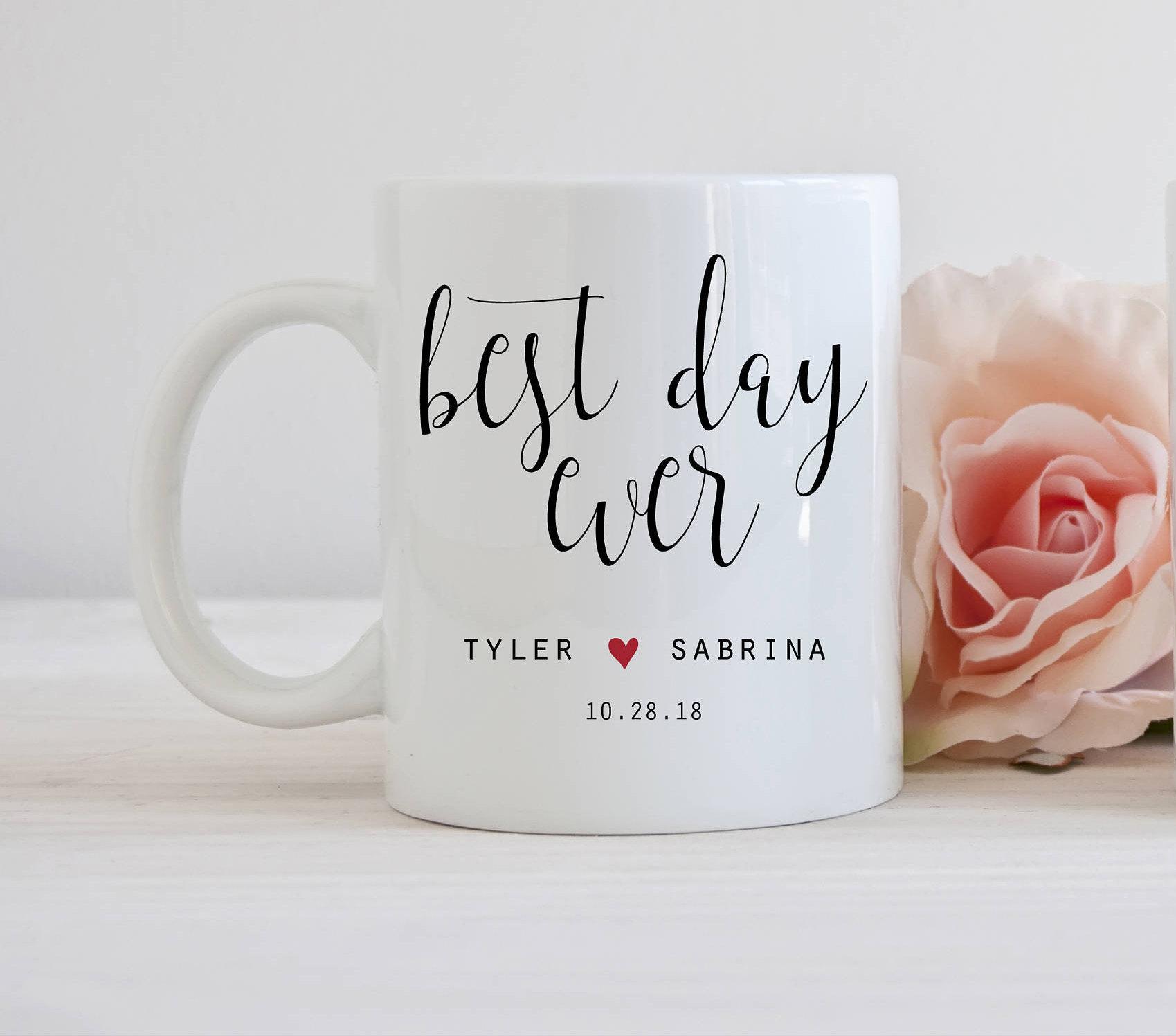 Best Wedding Gifts: Best Day Ever Mug Wedding Favor Mug Gifts For Wedding