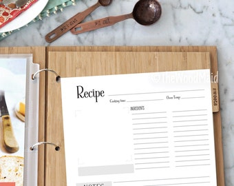 recipe pages etsy