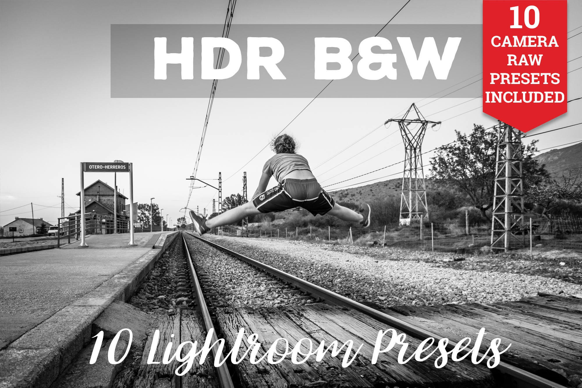 Hdr black and white lightroom presets adobe camera raw photoshop photography hdr retouch professional enhance photos preset one click