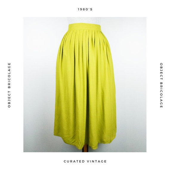 80's Chartreuse Skirt