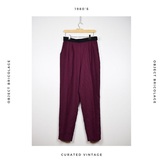 Burgundy Houndstooth Trousers
