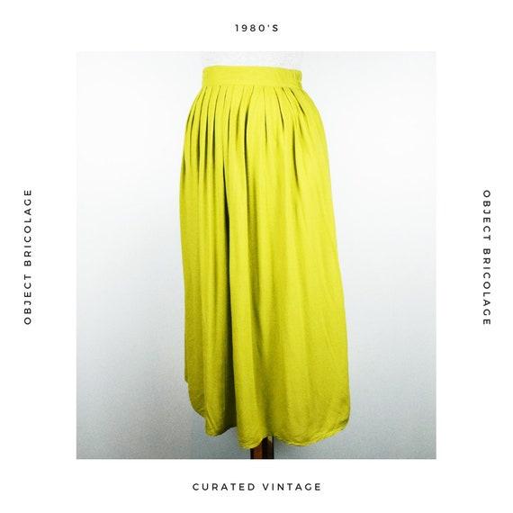 80's Chartreuse Skirt - image 4